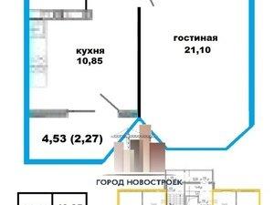 1-к квартира, 40.9 м², 11/18 эт. в Оренбурге