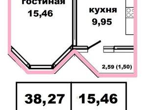 1-к квартира, 38.3 м², 11/17 эт. в Оренбурге